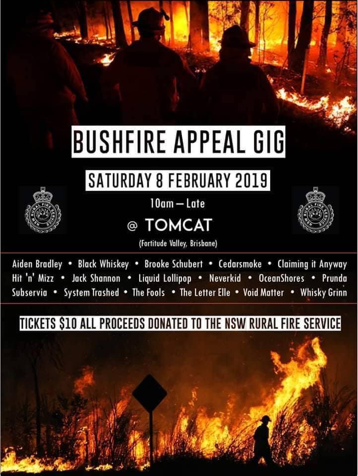 Bushfire Appeal Gig Poster