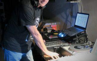 DJ Reckless Robin at the controls